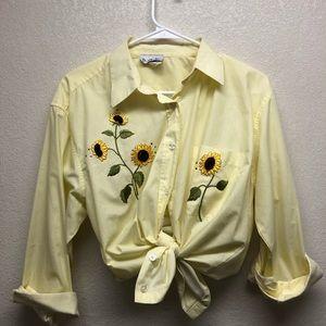 Tops - Sunflower yellow gingham top